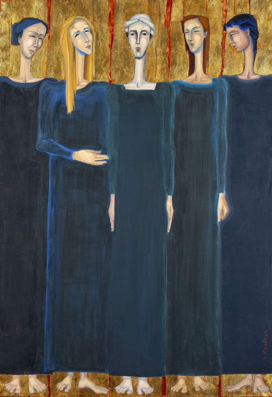 Suppliants | oil on canvas | H: 123 Χ 93 cm