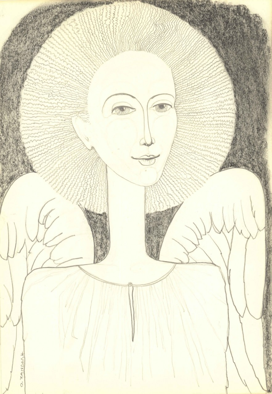 Right Angel | pencil- charcoal | Η: 35 X 25 cm.